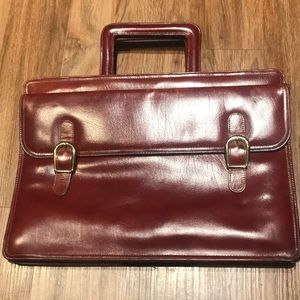 Vintage Palizzio Leather Briefcase Document Bag